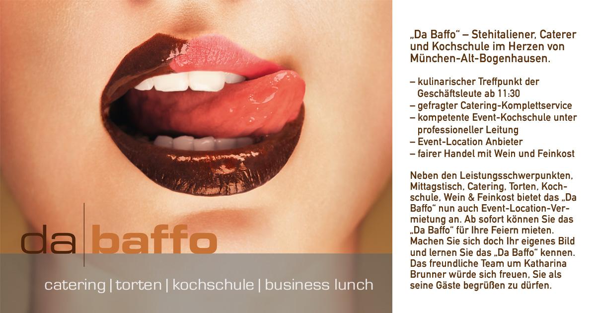 Da Baffo Catering München Wir über Uns